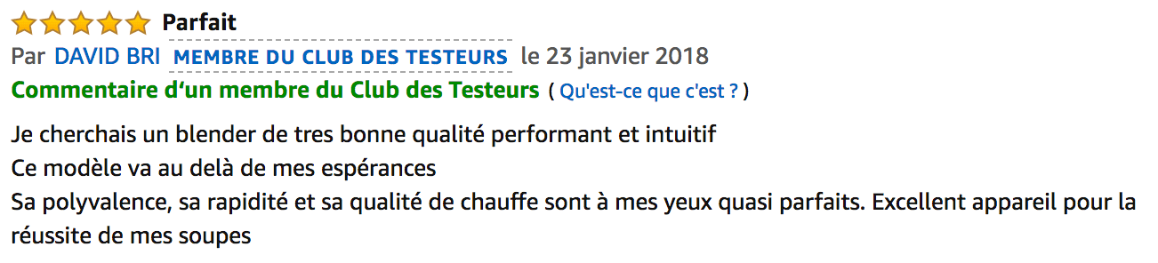 commentaire Master Cook Senya