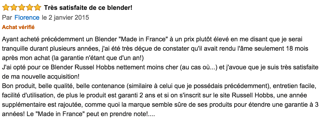 commentaire Russell Hobbs Soup & Blend